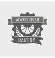 Bakery Retro Label logo or badge vector image