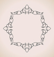 Calligraphic frame and page decoration vintage vector image