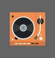 gramophone icon vinyl disk recorder audio system vector image
