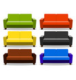 interior with realistic set sofa lounge settee vector image