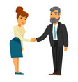 people shaking hands vector image