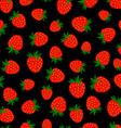 Strawberry Black Pattern vector image