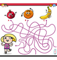 path maze activity for kids vector image