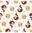 seamless pattern of cute little boy and vector image