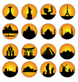 button famous places in the world vector image