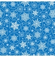 Falling Snowflakes Seamless Pattern Background vector image