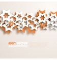 Abstract Overlapping Stars background vector image