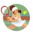 Beautiful girl play tennis vector image vector image
