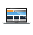 laptop with responsive grid layout vector image