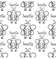 seamless pattern with beetle vector image vector image