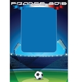 Soccer Background Template vector image vector image