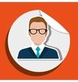 businessman stamp design vector image