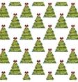 christmas pine tree background vector image