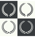 circular laurel wreath vector image