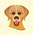 geometric animal vector image