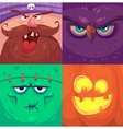 Happy halloween Set of Halloween characters vector image
