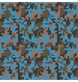 Pixel camo seamless pattern Fashion blue trendy vector image