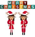 Raindeer Santa Claus vector image