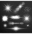 Transparent glow light effect vector image