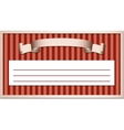ribbon in a frame vector image