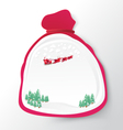 Santa Claus bag with christmas background paper vector image