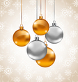 Holiday background with Christmas balls vector image