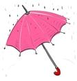 Umbrella under the rain vector image vector image