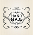 Vintage frame for retro banners vector image