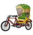 classic color cycle rickshaw vector image