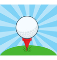 Golf Ball With Tee Ready vector image