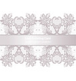 lace greeting delicate card in pink powder color vector image