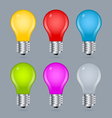 Light bulb icons vector image vector image