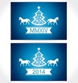 Happy christmas eve blue background with symbol co vector image