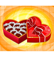 red heart candy box vector image vector image