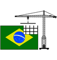 Brazil in construction vector image vector image