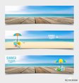 Summer holiday background on note paper vector image