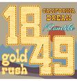 gold rush design vector image