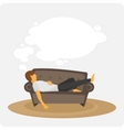 Lazy on the couch vector image