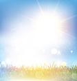 Retro grasssy landscape vector image