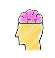 brain and head design vector image