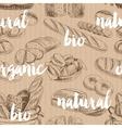 bread retro seamless pattern vector image