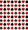 card suit seamless pattern vector image