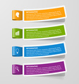 Colorful sticker banners Infographic concept vector image