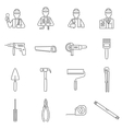 Construction Icons Line vector image
