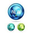 new price label web icon vector image