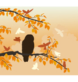 Owl mobbed vector image