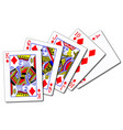 royal flush diamonds vector image