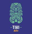 Tiki totem mask vector image