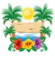 Tropical label vector image