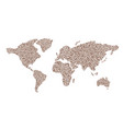 world map with hearts tags for valentines day vector image